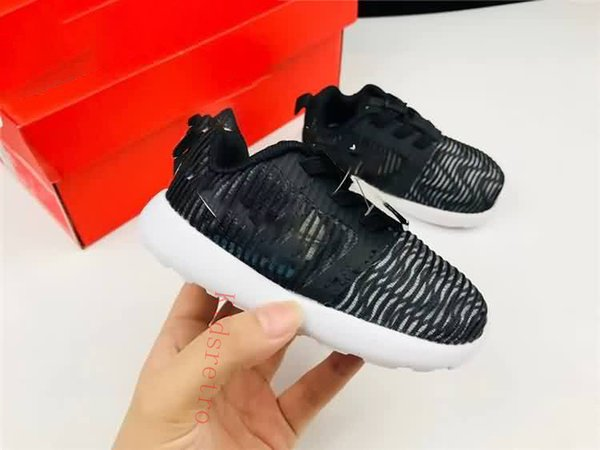 low priced 349b3 b4e66 Fashion Free Roshe Run Children Running Shoes Toddler Boys And Girls Sports  Shoes Youth Mesh Light Breathable Kids Designer Shoes Girls Running ...