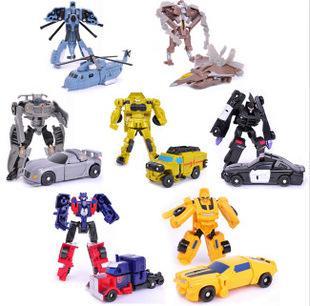 top popular Deformed Toys King Kong 5 Mini Transformer Pocket Robot Hot Selling Children's Animation Model 2020