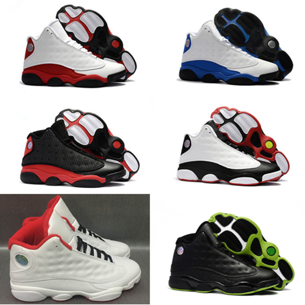high Quality 13 basketball shoes 13s XIII white black blue kids Athletic sneakers for big boys girls 31 colors big boys Size36-47