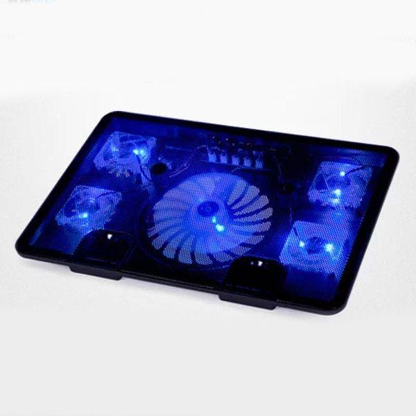 "NAJU 5 Fan 2 USB Laptop Cooler Cooling Pad Base LED Notebook Cooler Computer USB Fan Stand For Laptop PC Video 10-17"""