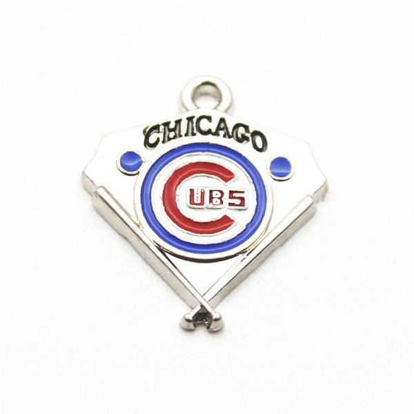Бейсбол спортивная команда логотип плавающей мотаться подвески кулон ожерелье цепь браслет серьги Diy ювелирных изделий