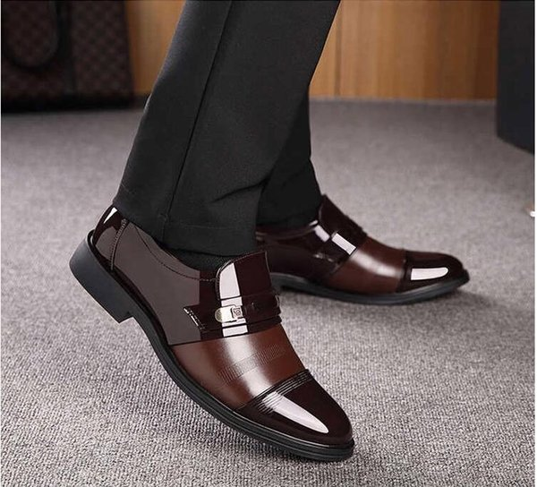 2018 autumn and winter new style plus business suits, men's leather shoes, classic shoes. T120