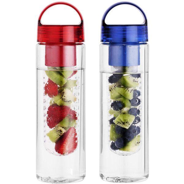water bottle joyshaker Plastic Water Bottle with Fruit Infusion Insert Basket and Flip Top Leak Proof Lid for Flavor Infused Beverage Spor