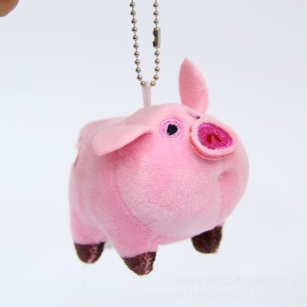 Mini Pink Pig Playful Pig Plush Doll Cute Bag Pendant Toy Children Holiday Birthday Gift Wholesale