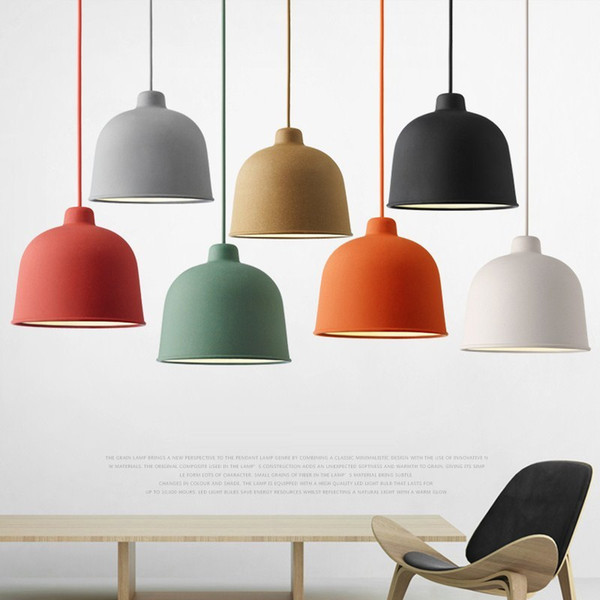 Nordic pendant lamp macaron simple creative restaurant lamp living room dining room bar cafe bed head decoration single head lamp