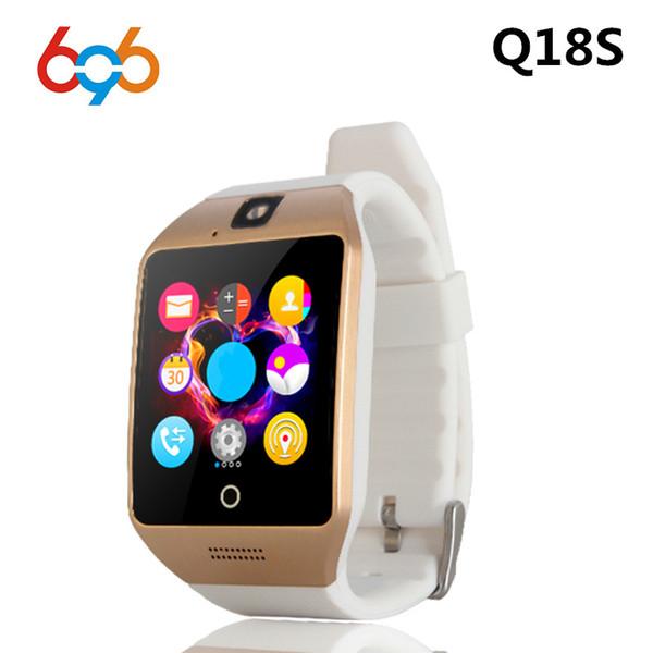 bb3d16cd2b5b 696 новый NFC смарт-часы Q18S с камерой facebook синхронизация SMS MP3  Smartwatch поддержка 2G