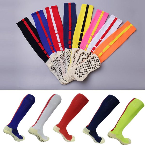 9 Colors Outdoor Sport Compression Stockings Adult Silica gel Non-Slip Stockings Breathable Sweat-Absorbent Wearable Sports Socks G486Q