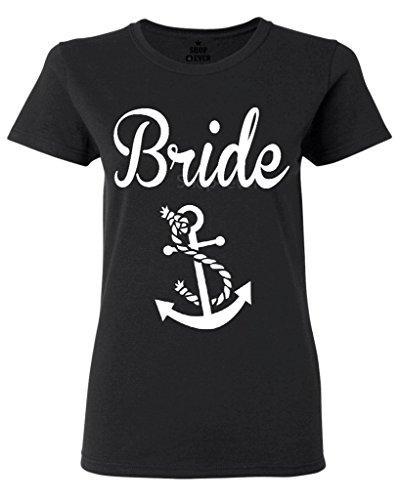 Women's Tee Bride Nautical Anchor Women's T-shirt Wedding Shirts Funny Brand Short T Shirt Punk Women Tops Tee New Arrival Summer Style