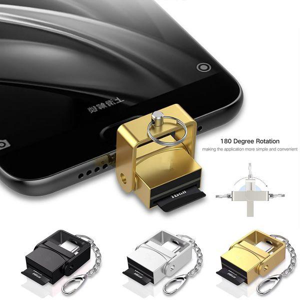 USB 3.1 Tipo C USB-C a TF Adaptador de lector de tarjetas para Macbook Cell Phone Samsung S9 S8 Huawei P10 Xiaomi