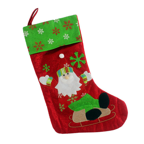 Cute Christmas Gift Socks Stockings Wine Bottle Candy Package Bags X 'Mas Hotel Shop Restaurant Ornaments 24Pcs /Lot