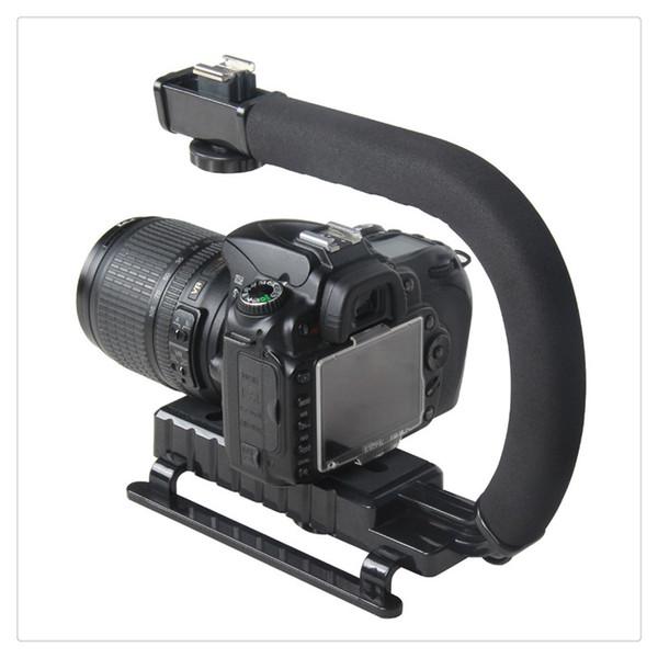 Yeni Yüksek Kalite Pro Sabitleyici U-Şekil Parantez Video Kamera Kamera DSLR için El Kavrama Ücretsiz Kargo