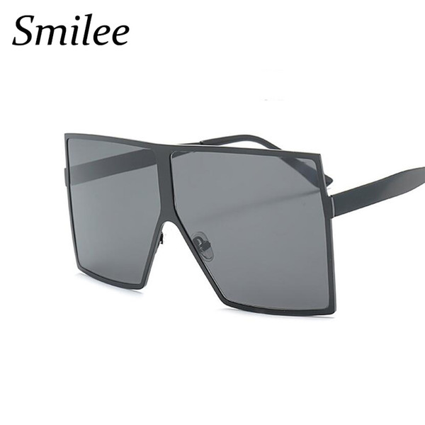 1509c55c8e New luxury metal frame Oversized Square Sunglasses Women Gradient 2018  Summer Style Classic Women Sun glasses