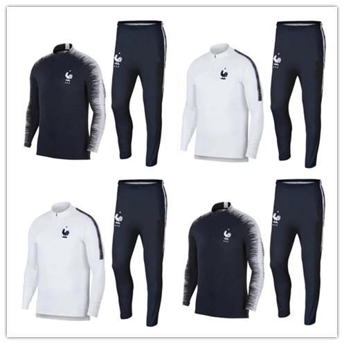 Tay 2018 Fransız iki yıldız futbol Eşofman POGBA MATUIDI Eşofman ceket 18 19 GRIEZMANN chándal eğitim takım elbise spor giyim