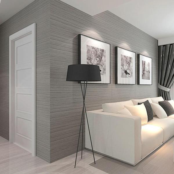 Großhandels 3D Tapete Moderne Einfache Einfarbige Vliestapete Wohnzimmer TV  Sofa Schlafzimmer Restaurant Hintergrund Tapeten Wohnkultur