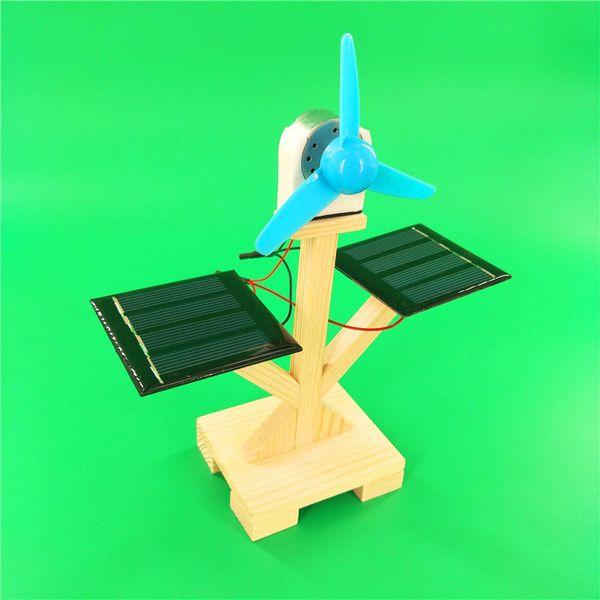 Atacado ventilador solar DIY tecnologia pequenos materiais de produção incluindo alunos da escola primária experimento científico brinquedos artesanais