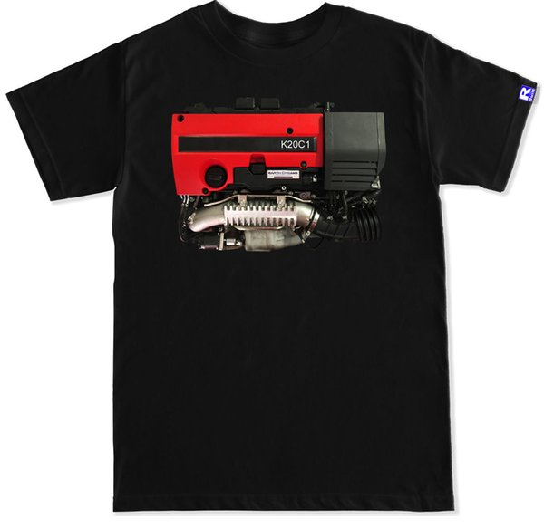 K20C1 Engine Civic Type R Fk2 Fk8 K20 K20C1 Red Valve Cover Turbo Boost T Shirt T Shirt Men Boy Grand Art Short