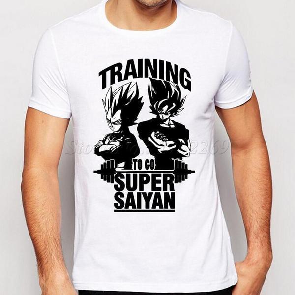 Camping Wandern T-Shirts Super Saiyan New Fashion Son Goku Männer T-Shirt O-Neck Casual Berühmte Tops Der Dragon Ball Z Funny Tee