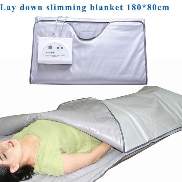 Nuevo modelo Zona 2 Sauna de abeto Cuerpo infrarrojo lejano Adelgazante Manta de sauna Terapia de calefacción Bolsa delgada SPA Máquina de desintoxicación para perder peso corporal