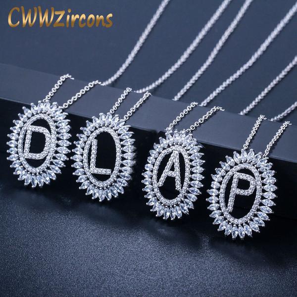 Rond Coloré Zircone Cubique Argent Bijoux en acier inoxydable collier pendentif Cadeau