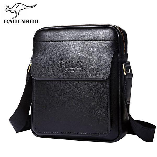 Badenroo cuero genuino Polo hombres bolsos de hombro Classical Messenger Bag Cross Body Bag Moda Casual Business bolsos para hombres