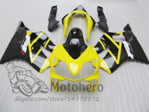 New 100% Fit Injection molding for HONDA CBR 600 F4i fairings 2004 2005 2006 2007 CBR600 F4i bodyworks 04 05 06 07 F4i Black Yellow J324