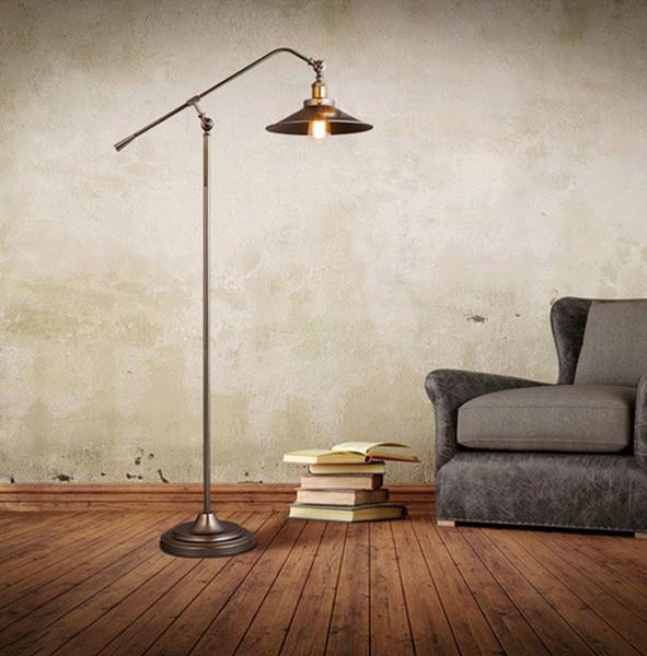 Bref lampadaire fer industriel loft lampadaire à la maison lampes de lecture studio bureau éclairage pays simple et belle