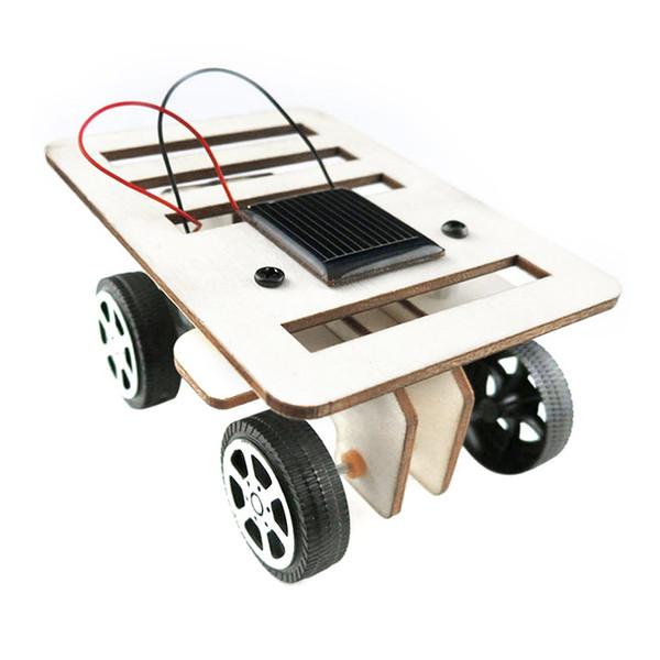2018 DIY Solar Toy Car Assemble Solar Vehicle Mini Energy Powdered Toy Racer Child Kid Car Education Kit