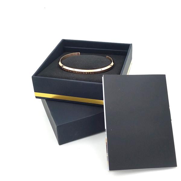 Nuovi bracciali con polsino con cinturino in argento con scatola originale in oro rosa Bracciale in argento con bracciale in acciaio inossidabile