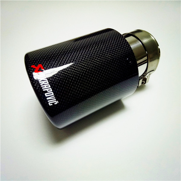 Wholesale Akrapovic Carbon Exhaust Tip/Muffler pipe For BMW BENZ AUDI VW Car Accessories Car Exhausts Tips
