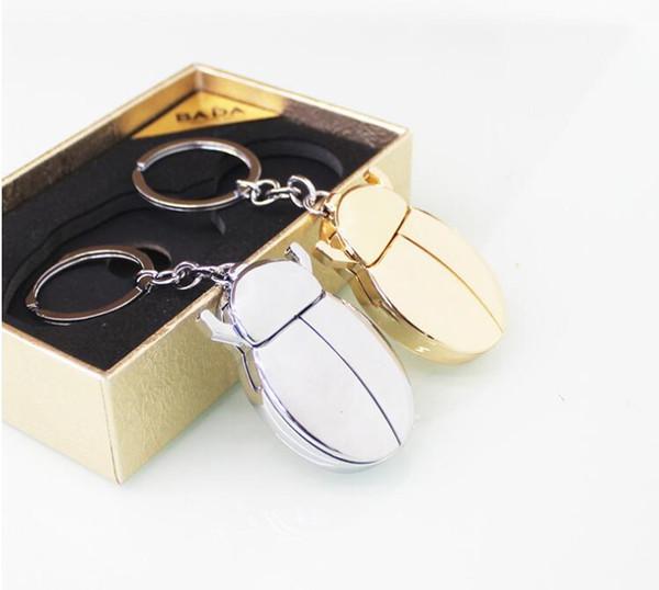 Neuester kreative Marienkäfer Beatles geformten USB-Feuerzeug nachladbare elektrische elektronische Zigarette Feuerzeug mit Schlüsselanhänger für das Rauchen Werkzeuge