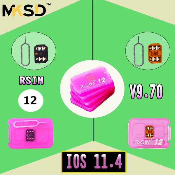 Original R-SIM 12 RSIM12 unlock card for iPhone X ios11 rsim 12 rsim12 unlocking iphone8 8p 7 7P 6 6S IOS 11-10.x 4G CDMA SB AU SPRINT DHL