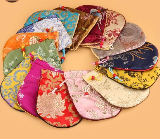 11x14CM, мешок ювелирных изделий, мешок подарка китайский традиционный Шелковый statin мешок небольшой шнурок ювелирные изделия упаковка смешанный цвет