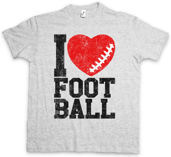 T-shirt I Love Football I Hearts Heart Love Addicted Addiction Ball Foot Camicia di base per t-shirt stile estate 2018