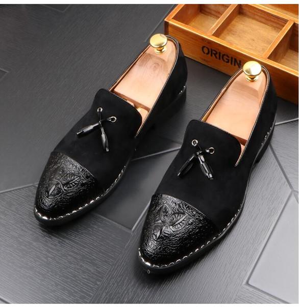 Pointed Frisur Schuhe Männer Sommer koreanischen Casual Matte Leder Füße Herrenschuhe Jugend Trend britischen Schuhe