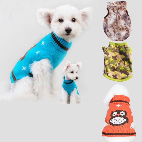 Pet Dog Cool Clothes Puppy Winter Warm Sweater Costume Vest New Coat