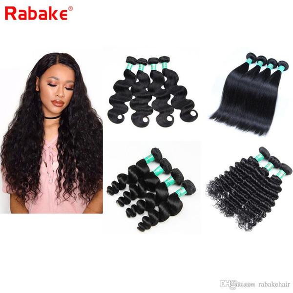 Peruvian Virgin Hair Body Wave 6A Brazilian Cuticle Aligned Human Hair Weave Bundles Silk Straight Deep Wave Loose Wave for Black Women