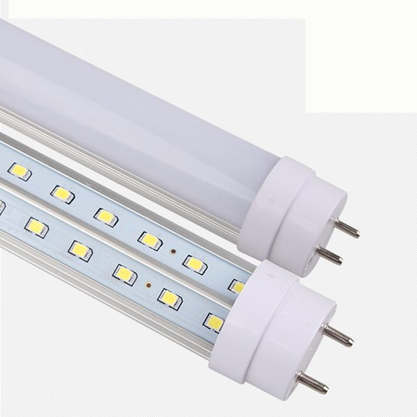 Hot!! B36W V-Shaped T8 LED Tube Light 4FT 1200MM Clear cover /Milky cover 192 LEDs SMD2835 LED Fluorescent Lamps AC 85-265V free shipping