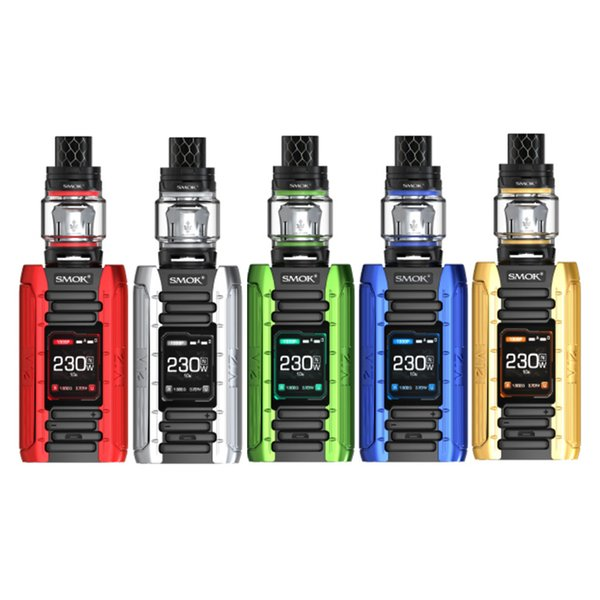 SMOK E-Priv 230W Kit Dual 18650 Battery Vape Mod Box Kits and TFV12 Prince Tank V12 Prince Dual Mesh Coils Authentic Smok Vape
