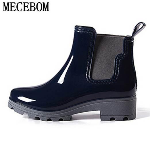 grandes ofertas brillo de color donde puedo comprar Compre Botas De Lluvia De Plataforma Botas De Tobillo De Mujer Botas Bajas  Botas De Mujer Botas De Mujer Zapatos Tallas Grandes 36 40 R039W A $63.32  ...