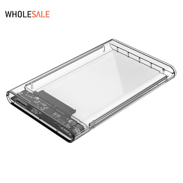 """Orico 2.5"""" USB 3.0 SATA Hd Box HDD Hard Disk Drive External HDD Enclosure Transparent Case Tool Free 5 Gbps Support 2TB"""