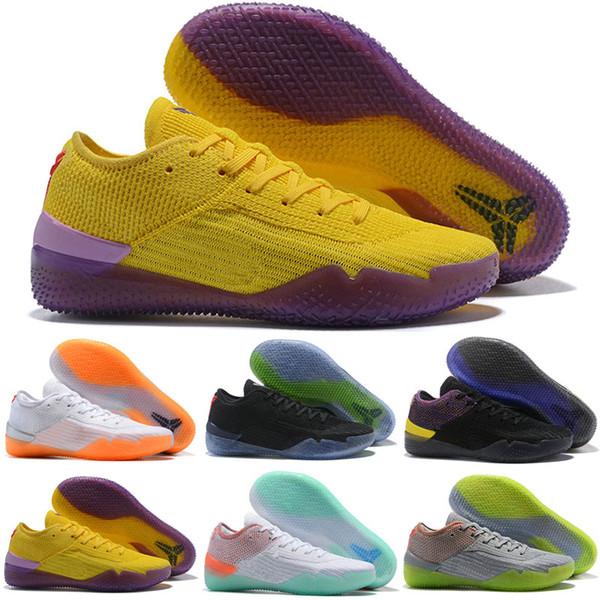 De calidad superior 2018 dC Kobe NXT 360 Reaccionar zapatos casuales para hombre amarillo tamaño Huelga Mamba Día Bryant multicolor 7-12
