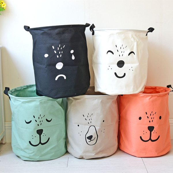 Cute Cartoon Toy Collection Baby Laundry Basket Children's Laundry Room Dirty Clothes Storage Box Folding Canvas Storage Bags