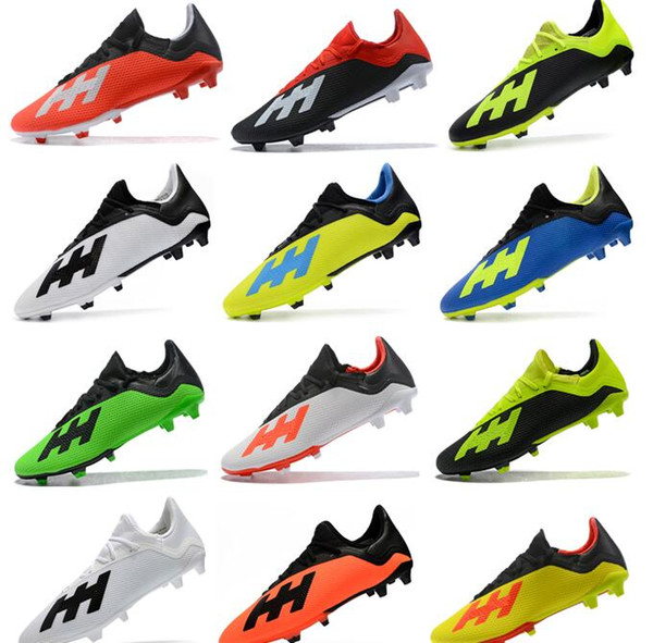 sports shoes 5a973 8ae98 2019 2018 Cheapest New Predator X18.3 FG Mens Soccer Cleats Pogba Soccer  Shoes Wold Cup ACE Predator 18 FG Outdoor Football Boots From Nice_sneaker,  ...