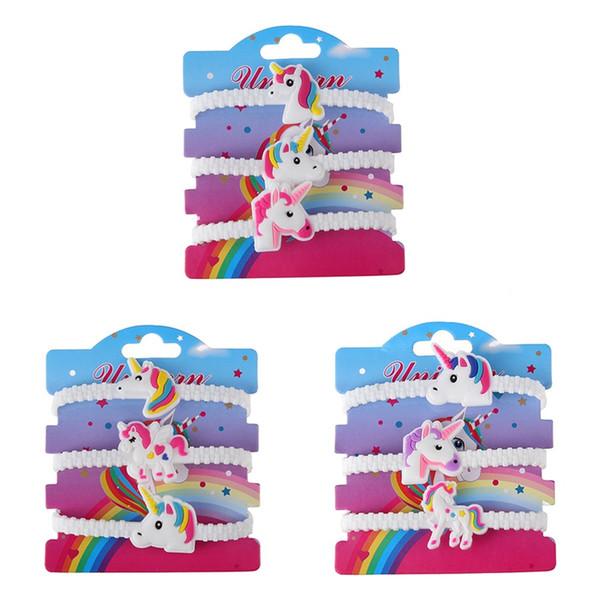 3 Teile / satz Kinder Charme Einzigartige Einhorn Armbänder Mädchen Jungen Geburtstagsparty Tasche Füllstoffe Kinder Baby Armband Kind Spielzeug