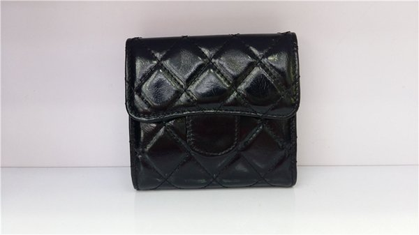 HEIßER VERKAUF Vogue Lackleder siebzig Prozent aus offenen Brieftaschen klassische zurück Reißverschluss Patchwork Handtasche kurze Handtasche Kartenhalter Frauen