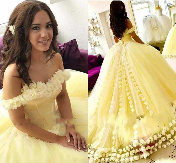 Sweet Design Ball Gown Quinceanera Dresses Off-Shoulder Lace Appliques Sexy Back Lace-up Special Occasion Dresses Elegant Prom Dresses