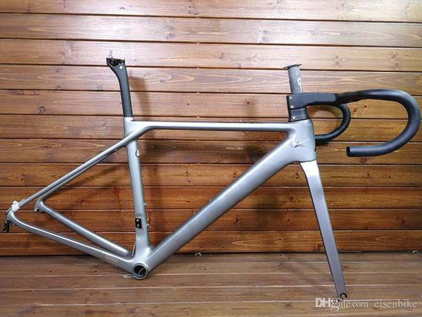 2018 silver SLX T1000 TOP carbon road bike frame bicycle racing bike frameset + handlebar disc brake carbon fibre frame