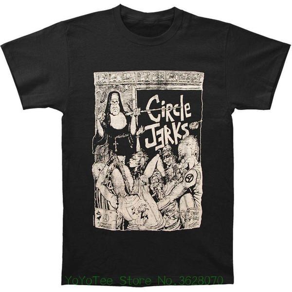 New Fashion For Men Short Sleeve Fashion Circle Jerks Men' S Bad Religion Slim Fit Graphic Casual T-shirt Black