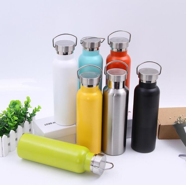 350ML Vacuum Insulation Cup Mug Bottle Sports 304 Stainless Steel Cola Bowling Shape Travel Mugs 7 Color Free DHL
