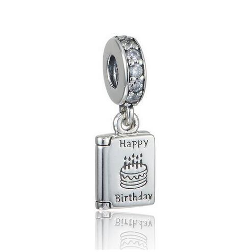 Birthday Wish Charm Pendant 925 Sterling Silver Charms Bead Happy Birthday Fits Pandora Charms Bracelet DIY Jewelry LW630